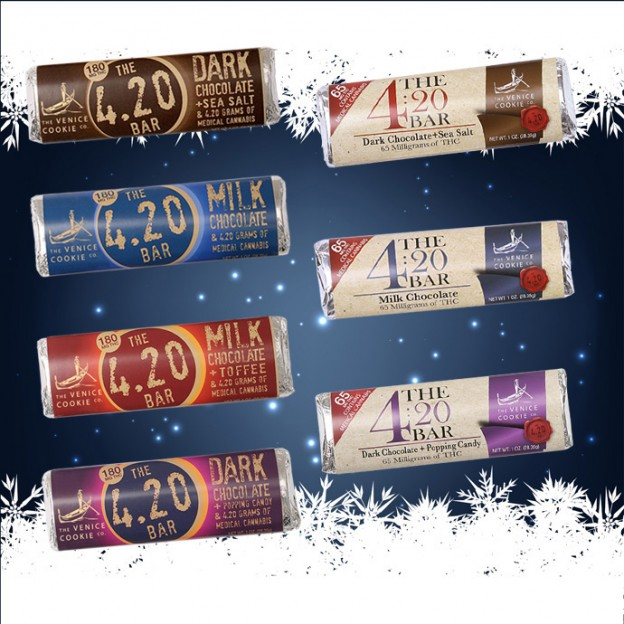 The Venice Candy Co. sells many varieties of the 420 bar and sells them on their website. Recreational marijuana is not legal in California.