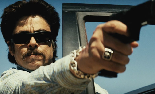 Benicio del Toro in the 2012 film Savages