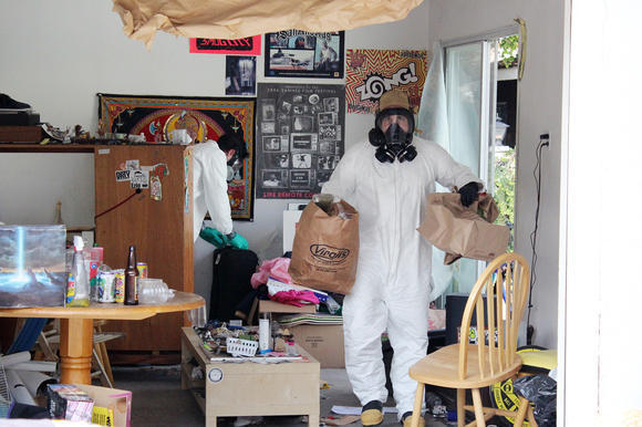 A hash oil lab that was raided by police in Glendale, CA. Photo: Glendale Police.