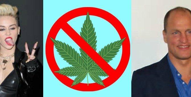 Miley Cyrus-Woody Harrelson-Quit-Marijuana
