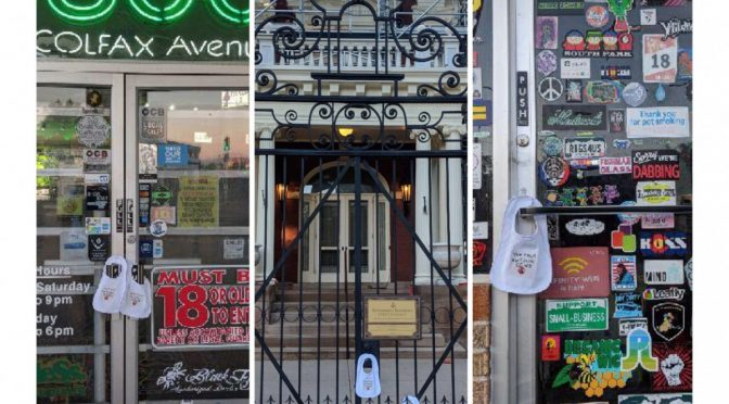 1000 Bibs Placed over Dispensaries in Denver