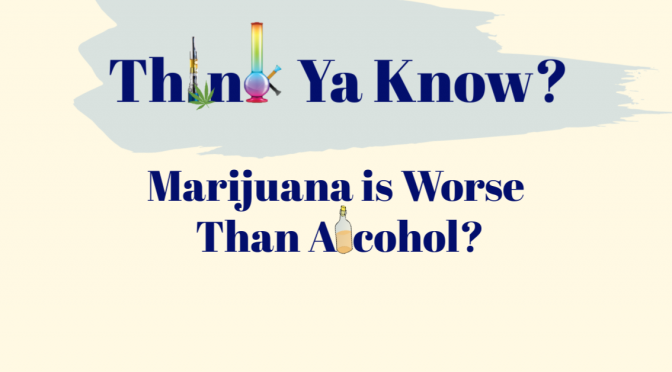 Marijuana is worse than alcohol