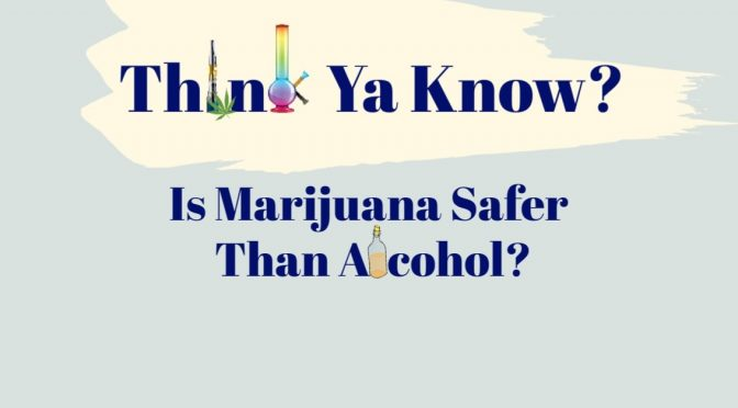 Think Ya know: Is MARIJUANA SAFER THAN ALCOHOL?